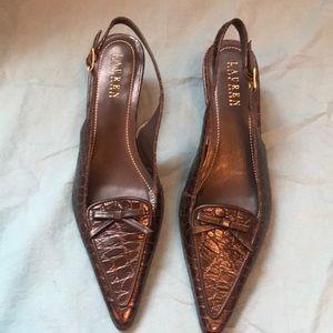 Ralph Lauren sling back heels